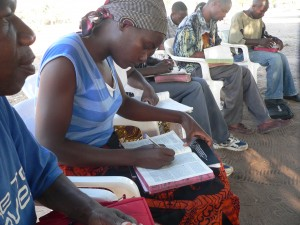 Students being taught the Word of God